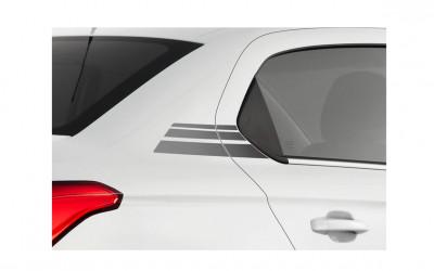 Dekorfolie Heckseitenteil-Streifen grau abgetönt