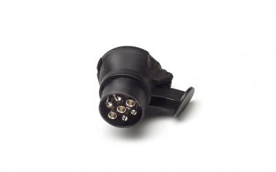 Steckdosenadapter für Anhängerkupplung 7-polig auf 13-polig