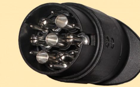 steckdosenadapter f r anh ngerkupplung 7 13 polig. Black Bedroom Furniture Sets. Home Design Ideas